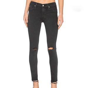 HUDSON Mid Rise Skinny Blackened Charcoal Jeans